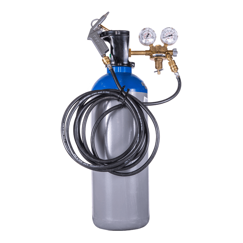 Laughing gas tank spray system