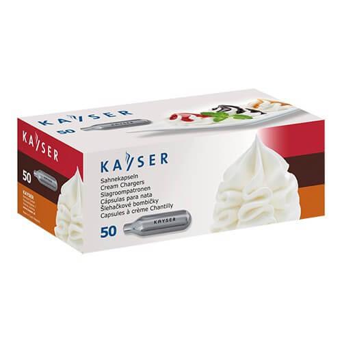 Kayser slagroompatronen verpakt per 50 stuks